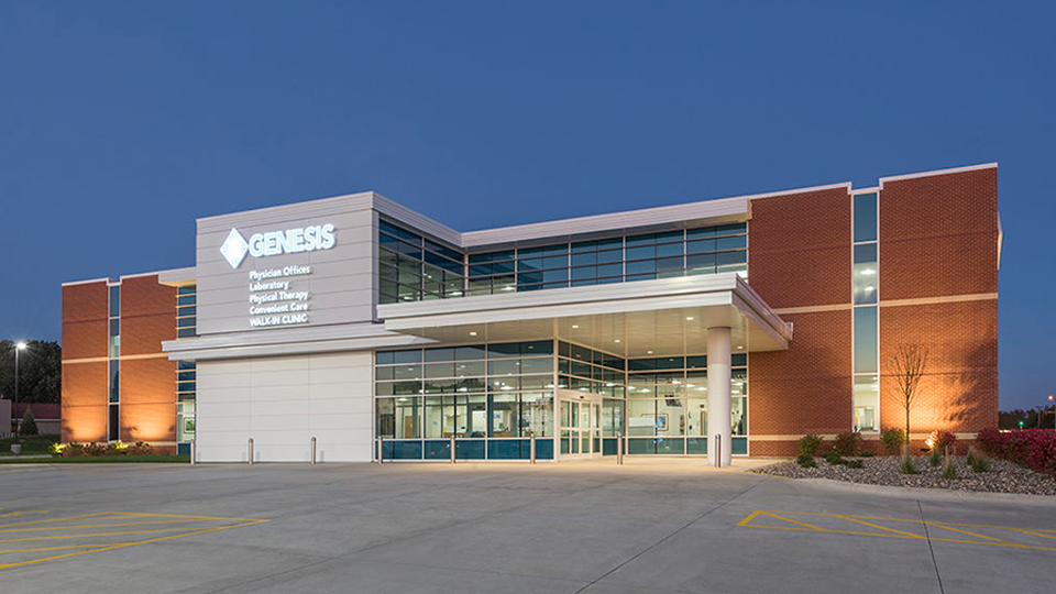 Genesis Hospital facility from outside.