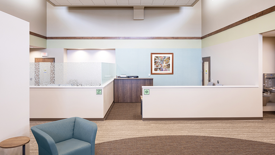 HealthFirst Medical Park in Oelwein was remodeled by interior design provider Conceptual Designs.